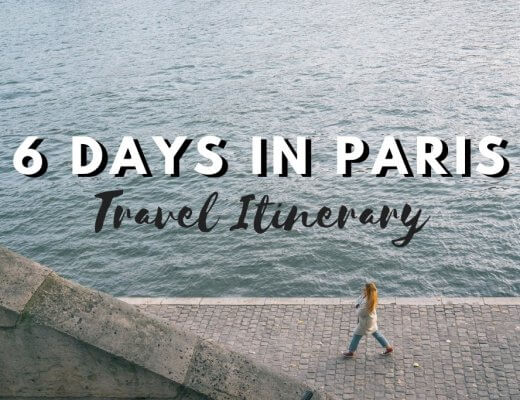 6 Days in Paris - Itinerary