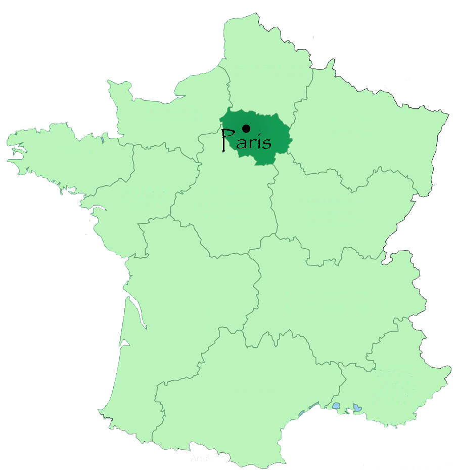 Paris Location in France Map