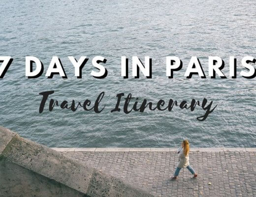 One week in Paris Itinerary