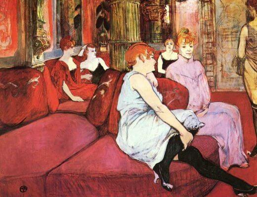 Au Salon Rue Moulins - Toulouse Lautrec